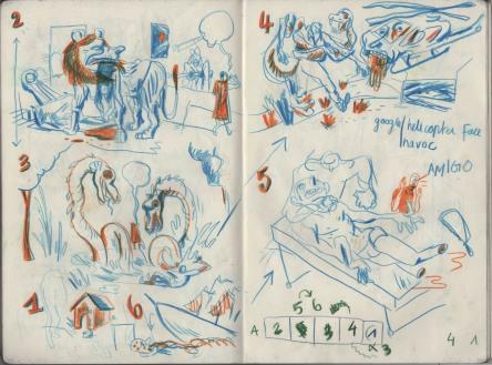 © Lukas Verstraete - WILD DOGS sketches