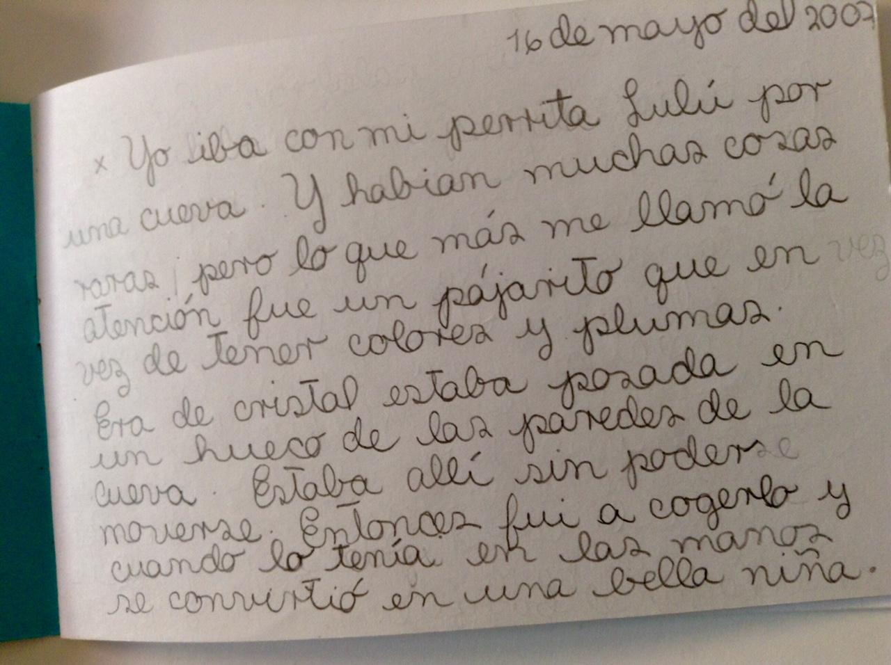 Diario de sueños de Penélope, 9 años. La Habana, Cuba. Mayo 2007.