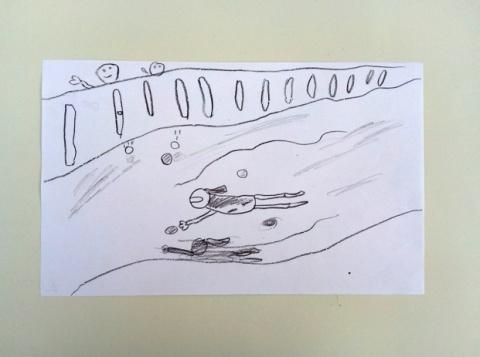 Dibujo de Hugo, 9 años