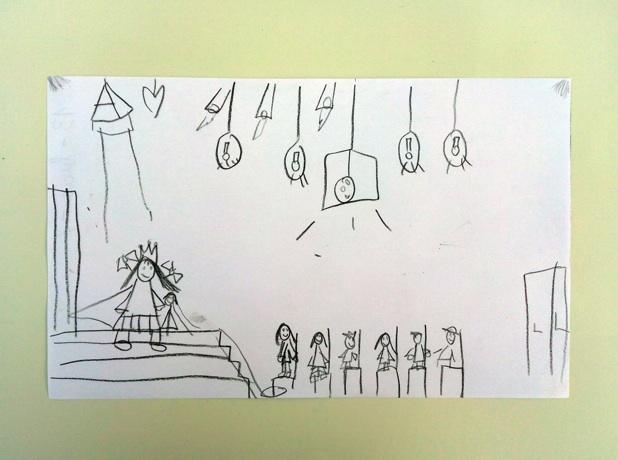 Dibujo de Lucía, 7 años